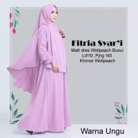 baju gamis syari wanita kekinian dress polos hijab busana muslim