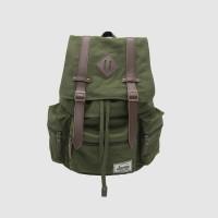 Tas Ransel Backpack Kanvas Laptop Pria Wanita - Journey Chicago Olive