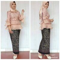ivr St Karina Organza Batik kebaya setelan pakaian muslim wanita