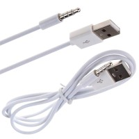3.3Ft 3.5Mm Kabel Aux Audio Plug Jack Ke Usb 2.0 Male Untuk Ipod Mp3