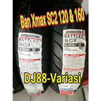Paket Ban Battlax xmax SC2 ukuran 120 - 70 dan 160 -60 depan belakang