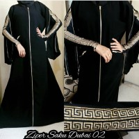 Abaya Gamis Ziper Saku Dubai Dress Muslim Fashion Style