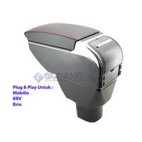 Armrest Mobil Khusus Honda Brio Mobilio BRV 7 USB Port Charger + LED