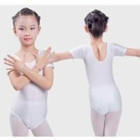 Baju Balet Ballet Senam Lengan Pendek Leotard Lycra Short Sleeves