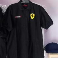 Tshirt - polo shirt - Baju kerah Ferrari Top Quality