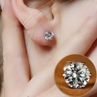 anting mata satu simpel seperti berlian emas asli ladar 70% 700 18k 22
