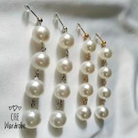 Pearl Earring / Anting Mutiara / Anting Korea (Type Rantai)