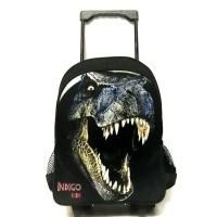 tas koper dinosaurus / tas anak laki laki / tas sekolah trolly roda