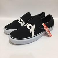 Sepatu Slip On Pria Vans Metallica Black Premium Import
