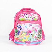 Ransel Karakter Anak Perempuan Motif Little Pony Ukuran 13 inch