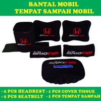 Bantal mobil All New Brio RS tempat sampah mobil headrest mobil