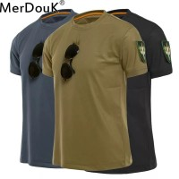Men Tactical Tshirt Military Polyester Quick Drying T-Shirts Army Shor