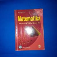 Buku Matematika Untuk SMP MTS Kelas IX BSE