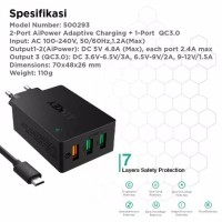 Aukey Charger 3 Ports 42W QC 3.0 & AiQ - 500293 PA-T14