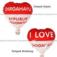 Balon Dirgahayu RI / Balon 17 Agustus / Balon HUT RI / Balon Foil Love