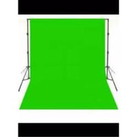 Background Foto Hijau Polos / GREEN SCREEN Back Ground Drop Studio Spu