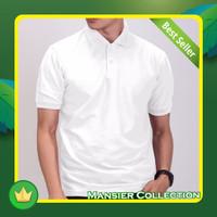 Kaos Polo Berkerah Pria Dewasa / Wangki Pria Polos - Putih