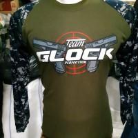 Kaos Raglan Panjang Navy Seals GLOCK | Kaos Raglan Loreng | Kaos Army