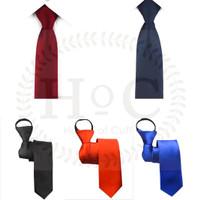 Houseofcuff Dasi Panjang tempel Instant Neck Tie Slim ada semua warna