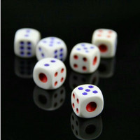 Dadu Mainan PVC Dice Board games Dot Domino Kartu Uno 18mm x 1.8cm