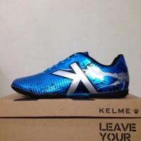 New Sepatu Futsal Kelme Star Evo Sky Blue Silver 1103003 Original