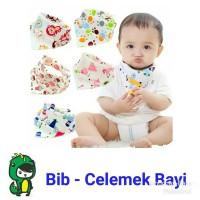Bib / Slabber / Celemek Bayi / Handuk Air Liur Bayi Bahan Katun
