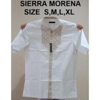 Baju Koko Alisan Putih Pendek size 14,5 (M) - 16 (XL)