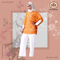 BILY SHOP BALI Lana Blouse Brokat Brukat Orange Labu