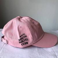 Topi Anti Social Social Club Pink Original ( ASSC CAP ORIGINAL 100%)