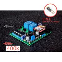 GSM PCB controller (saklar sms, IoT board, projek arduino SIM800L)