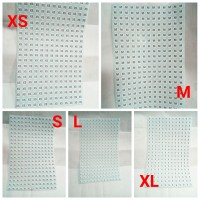 Stiker Ukuran Baju / Sticker Size XS S M L XL label gambar tempel baju
