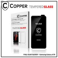 Samsung Galaxy A70 - COPPER Tempered Glass Full Glue PREMIUM Glossy