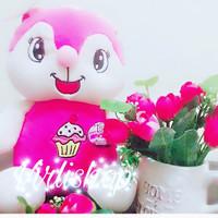 boneka rabbit cupcake 160gram lucu murah lagi