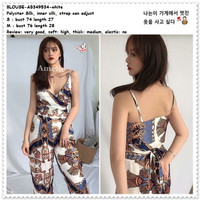 Baju Atasan Summer Blouse Crop Top Pantai Wanita Korea Import AB349534