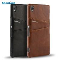 Casing Leather Back Cover Sony Xperia Z3 Z1 Z2 Z4 Z5 Z5 Premium