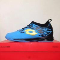 Sepatu Futsal Lotto Energia IN Ocean Blue Black L01040007 Original BNI