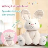 Mainan Anak Boneka Kelinci Putih CILUKBA ~ RABBIT/BUNNY PEEK A BOO
