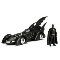 Jada Batmobile 1:24 1995 Batman Forever w Batman Figure 98036