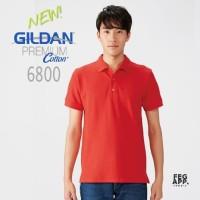 Polo Shirt New 6800 GILDAN Premium Cotton Sport Shirt Import Original