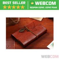Notebook Leather Retro Binder Buku Notes Memo Kulit Classic A6
