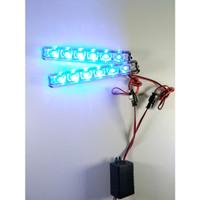 Lampu LED Strobo Blitz Flash Light DRL Variasi Motor Mobil 188