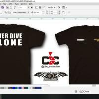 Atasan/Kaos/T-Shirt/COSTUM INTERNASIONAL SCUBA DIVER NEVER DIVE ALONE