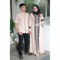baju couple gamis Dress koko kemeja / baju pasangan couple suami istri
