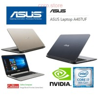 LAPTOP ASUS A407UF - i7-8550/8GB/1TB/14FHD/MX130 2GB/W10 GREY & GOLD