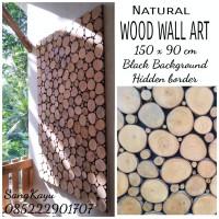 Free ongkir Wood wall art 150x90 cm hiasan dinding kayu Wallpaper kayu