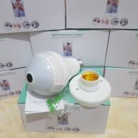 Bohlam Lampu CCTV Wifi Spy Camera 360 panorama wireless