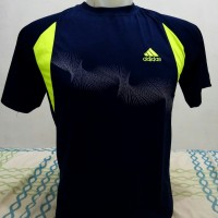 Baju Kaos Olahraga Adidas Cowok Pria Navy Murah Untuk Gym Lari Fitness