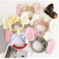 topi bandana lucu model telinga gajah lembut bando karet rambut