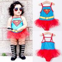 Baju renang supergirl tutu import / swimsuit super hero cewek anak