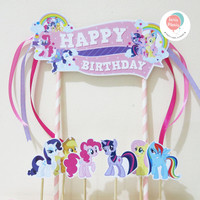 Cake Topper / Hiasan Kue Ulang Tahun MY LITTLE PONY